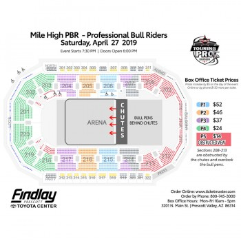 Mile High PBR Seating Chart
