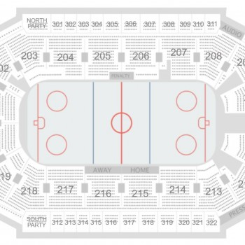 Diagram of hockey seating arrangment