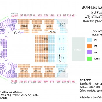 Seating Chart for Mannheim Steamroller Christmas concert