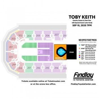 Toby Keith Seating Chart
