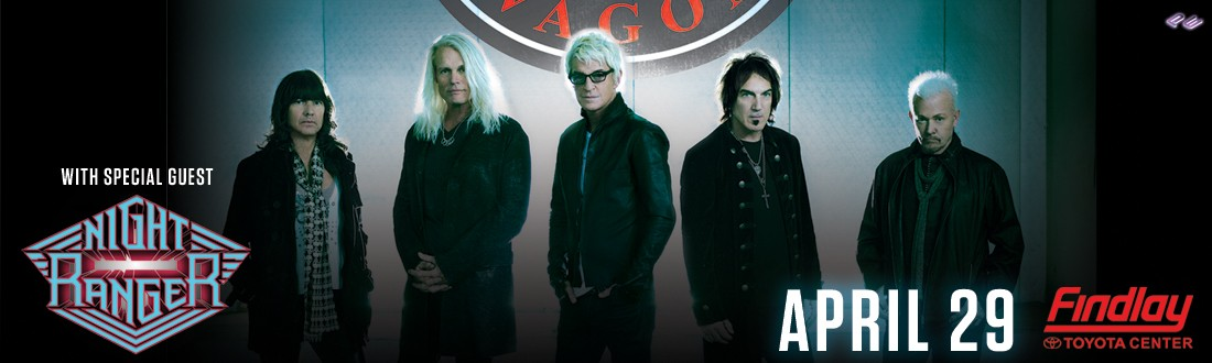 REO Speedwagon with special guest, Night Ranger on Wednesday, April 29, 2020