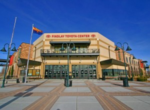 Exterior or the Findlay Toyota Center viewed from street.